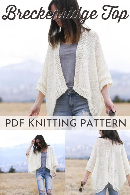 Great beginner knitting pattern. Easy knit cardigan sweater pattern. Lovely light and breezy knit sweater pattern to wear all spring long! #knittingpattern #knitsweaterpattern #beginnerknittingpattern #easyknittingpattern #mamainastitch #craftevangelist