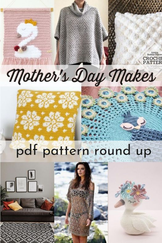 Perfect Mother's Day patterns for knit or crochet. Lovely ideas to make for Mom! 10 pdf patterns to download and make right away! So many great crochet patterns here! #crochetpattern #makeformom #mothersday #makemakemake #knittingpatterns #handmadegiftideas #craftevangelist