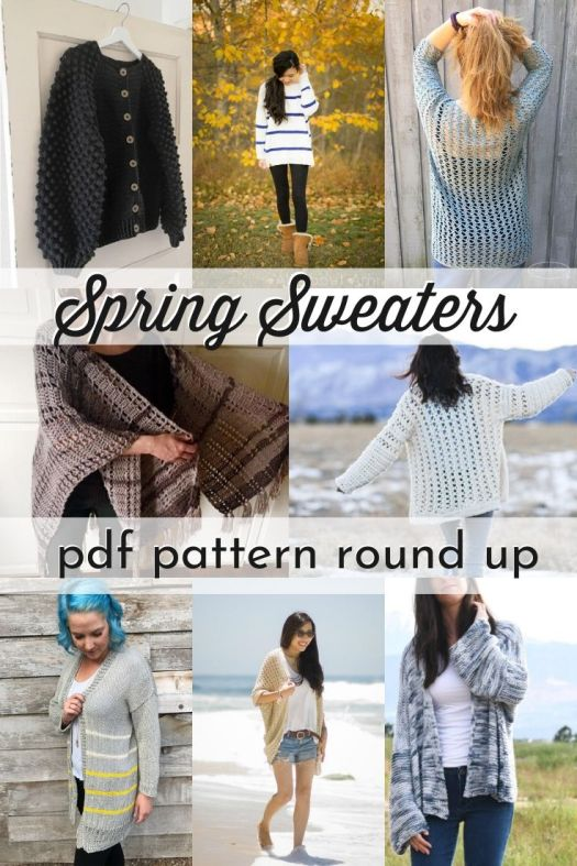 Check out this pattern round up of gorgeous spring sweater patterns! I love the flowy, breezy, drapey cardigans and sweaters for both crochet patterns and knitting patterns! #knittingpatterns #crochetpatterns #patternroundup #StandWithSmall #craftevangelist