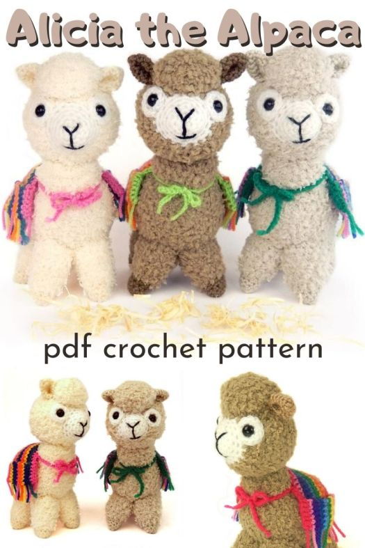 Sweet and fuzzy amigurumi alpaca crochet pattern. Can't wait to make this adorable little stuffed toy. A perfect unique handmade gift! #crochetpattern #amigurumipattern #crochetalpaca #craftevangelist