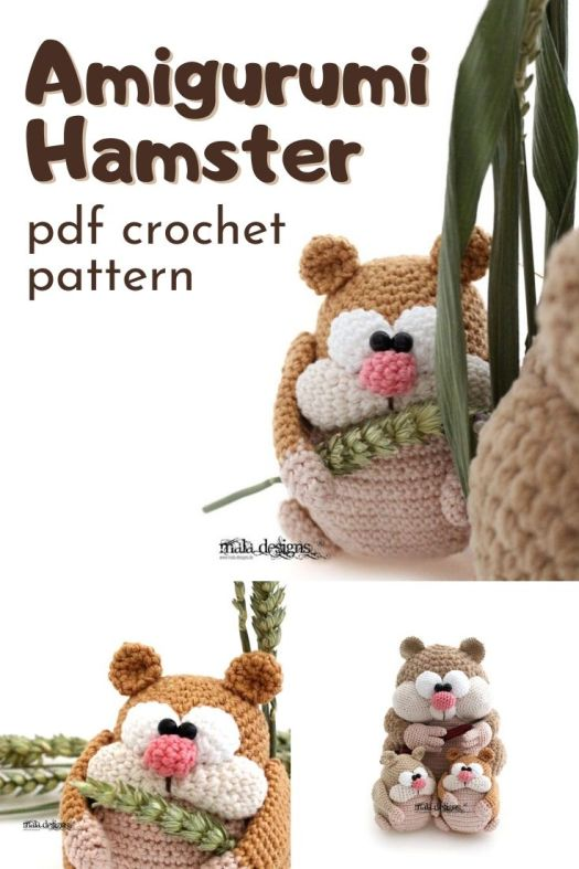 Fun and cartoonish little amigurumi hamster crochet pattern. Also bears some resemblance to a squirrel or chipmunk crochet pattern. Love this sweet little crocheted forest creature. #crochetpattern #amigurumipattern #crochetedtoys #craftevangelist