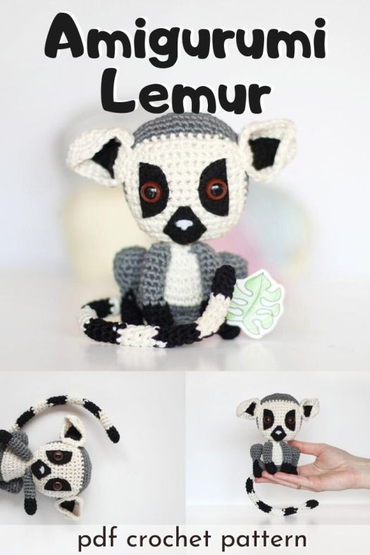 Such a fun amigurumi lemur crochet pattern. I can't wait to make this fun Madagascar inspired diy stuffed toy! What a fun summer crochet project! Perfect unique handmade gift. #crochetpattern #amigurumipattern #lemurpattern #craftevangelist