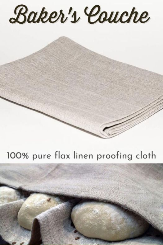 THIS is what I need! Thickly woven, flax linen proofing cloth! Perfect for my sourdough obsession! I love the natural colour of this simple but gorgeous baker's couche proofing cloth! #sourdoughbread #sourdoughobsession #bakerscouche #proofingcloth #craftevangelist