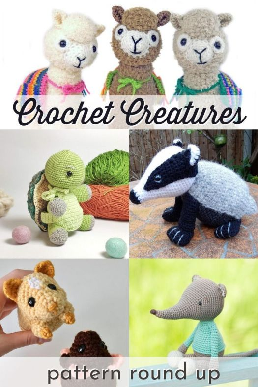 Collection of crocheted creature patterns! I love these pattern round ups! Can't wait to get crocheting some of these cute little stuffed toys this summer! #crochetpattern #amigurumipattern #crochetedtoys #diystuffedtoy #craftevangelist