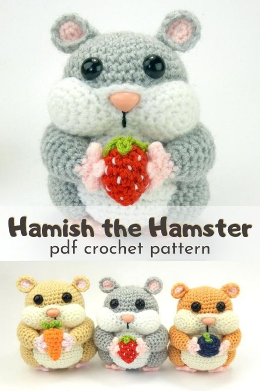 I love this chubby cheeked adorable little hamster crochet pattern! I can't wait to make one of these for my nephew! Plenty of detailed instructions and photos to help guide this easy to follow pattern. #crochetpattern #amigurumipattern #hamstercrochetpattern #stuffedtoypattern #craftevangelist