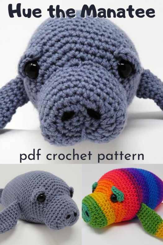 Adorable amigurumi manatee crochet pattern. Great beginner amigurumi crochet pattern. Love this fun and unique stuffed toy. #crochetpattern #amigurumipattern #crochetedtoy #craftevangelist