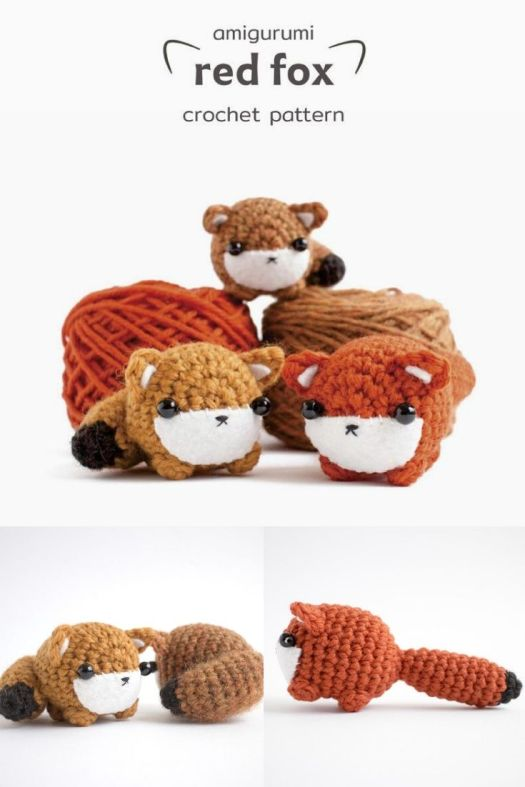 Fun and easy little red fox crochet pattern. Tiny little amigurumi crochet pattern to use up yarn scraps. Such a fun little pattern! #crochetpattern #amigurumipattern #crochetfox #tinyamigurumi #craftevangelist