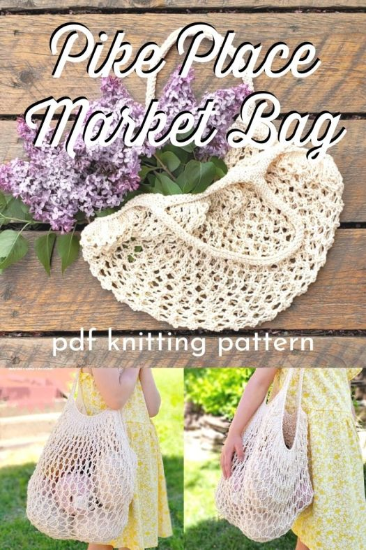 This beautiful crochet pattern for this Pike Place Market Bag makes a large and expandable market bag that you can squish in your purse and bring out to haul home your market finds! #crochetbag #crochetpattern #handbagpattern #yarn #crafts #craftevangelist