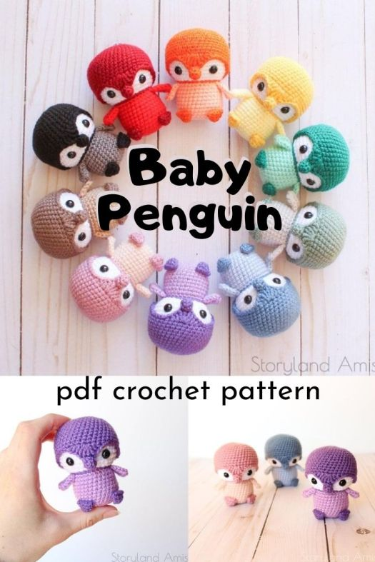 What a fun and easy little baby penguin amigurumi crochet pattern. Love this adorable little palm-sized handmade toy! Perfect little gift for a group of kids. #crochetpattern #amigurumipattern #crafts #yarn #miniamigurumi #amigurumipenguin #craftevangelist