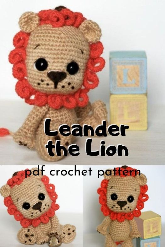 Leander the Lion amigurumi crochet pattern makes a delightful little lion crochet pattern to make for any child. Perfect jungle themed handmade toy idea for baby! #crochetpattern #amigurumipattern #littledolls #miniamigurumi #yarn #crafts #craftevangelist