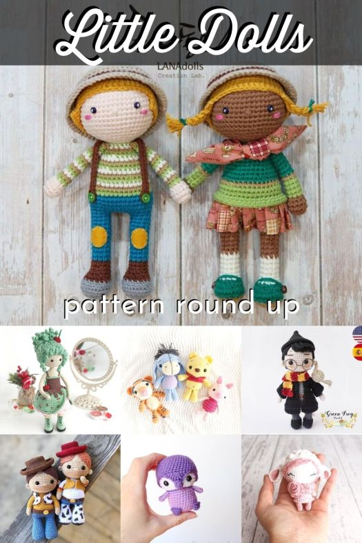 Adorable little amigurumi dolls crochet pattern round up! I love to make little crocheted amigurumis during the summer time! It's such a great way to use up leftover yarn and it makes the sweetest little dolls! #crafts #yarn #amigurumi #crochetpatterns #patternroundup #craftevangelist