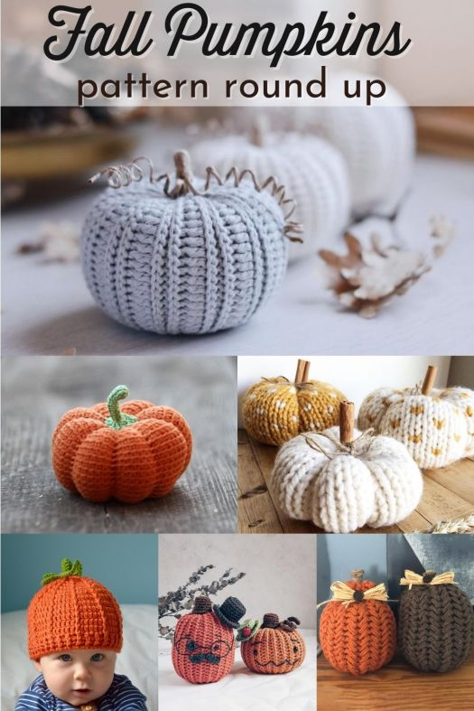 How sweet are these adorable pumpkin patterns!? So many knit and crochet pumpkins to make this fall! I love this collection! #patterns #yarn #crafts #fall #fallpumpkins #pumpkinpatterns #knitpumpkins #patternroundup #crochetpumpkins #craftevangelist