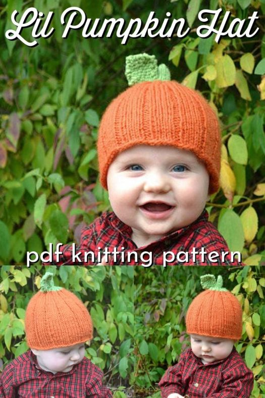 Adorable knit pumpkin hat in 9 sizes! Make one for every kid you know! How sweet is this easy fall knitting pattern? #fallhats #knittingpattern #knithatpattern #pumpkinhatpattern #knitpumpkin #knitting #yarn #crafts #hatpattern #pumpkinhat #LilPumpkinHat #VintHill #craftevangelist