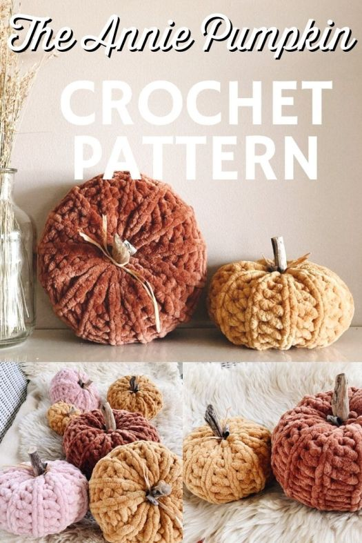 Lovely squishy chenille pumpkin crochet pattern, perfect addition to your fall mantel or shelf decor! I love the squish on this pumpkin! So fun. Time to start crocheting!!! #crochetpattern #crochetpumpkin #pumpkinpattern #falldecor #diyfalldecor #diypumpkin #pumpkindecor #yarn #crafts #hellowildflowerco #craftevangelist