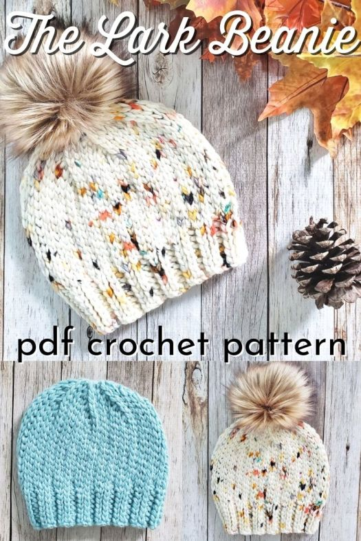 The Lark Beanie is a super cute CROCHET hat pattern that looks KNIT! I love this knit-look crochet stitch on this hat. This stitch is so nice and warm! And it's CROCHET!!! #crochetpattern #knitlookcrochet #crochetbeaniepattern #beaniepattern #hatpattern #toquepattern #AlyseCrochet #craftevangelist