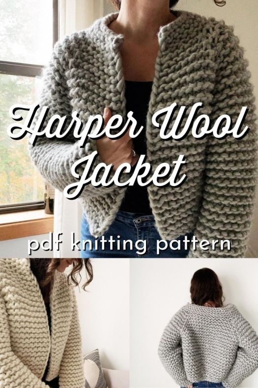 Super easy knitting pattern made from super bulky wool to make this beginner level knit sweater pattern work up super quickly! Great first knit garment pattern! #knitsweater #knittingpattern #knitsweater #knitsweaterpattern #beginnerknittingpattern #easyknittingpattern #easysweaterpattern #Caidree #CraftEvangelist