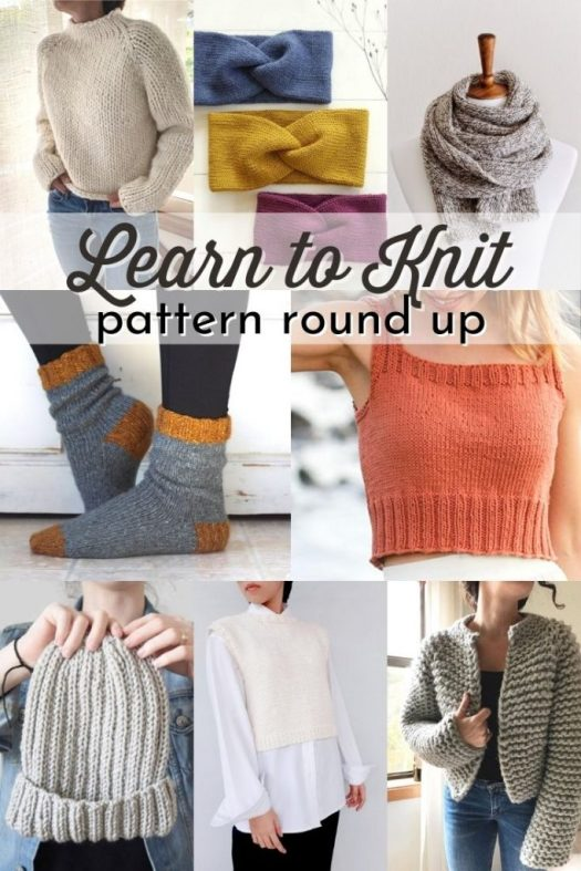 Learn to knit with this great collection of easy beginner knitting patterns! Everything from blankets to socks and tops, hats and scarves, there's a great selection of beginner knitting patterns to inspire you to create! #beginnerknittingpatterns #easyknittinpatterns #patternroundup #knit #makemakemake #knitknitknit #knitting #knittingpatterns #learntoknit #yarn #crafts #CraftEvangelist