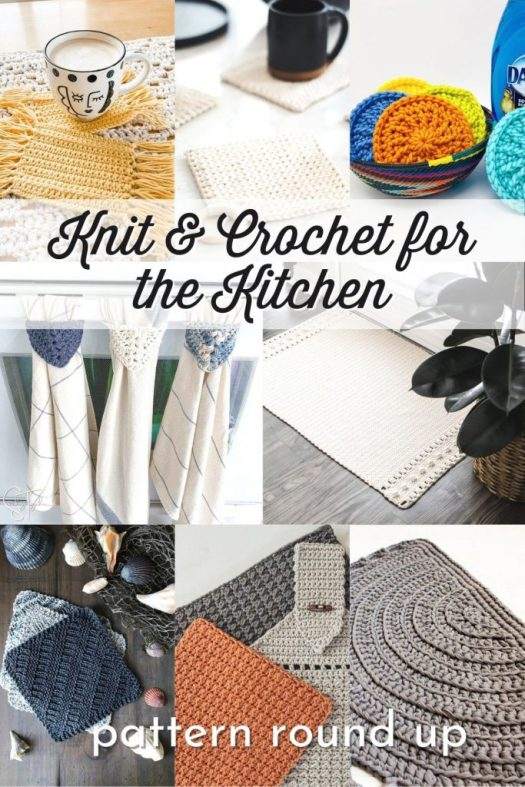 Excellent round up of great knit, crochet and sewing patterns for the kitchen. Enjoy beginner knit and crochet patterns and easy to follow sewing patterns that you can have digitally delivered to you today! #knitting #Crochet #KnittingPatterns #CrochetPatterns #KitchenKnits #KitchenCrochet #SewingPatterns #KitchenHandmade #HandmadeKitchenAccessories #PatternRoundUp #Yarn #Crafts #CraftEvangelist