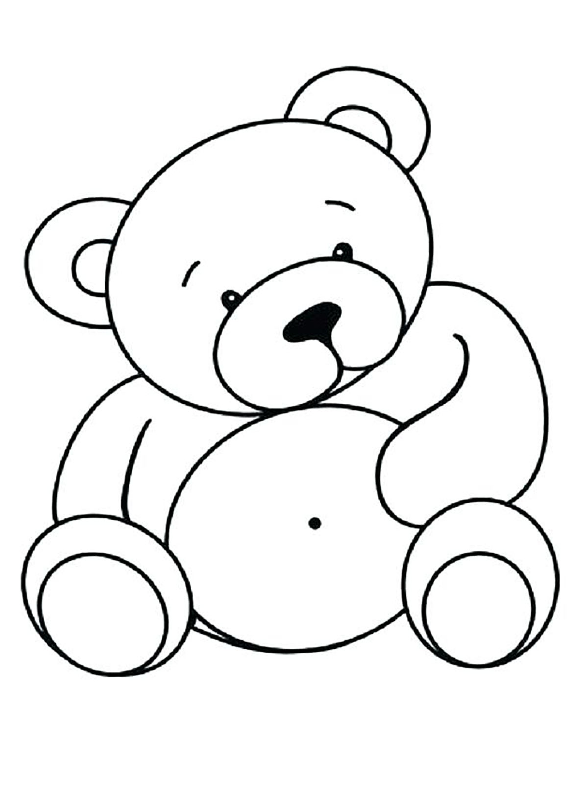 Fun and Easy Bears Coloring Pages