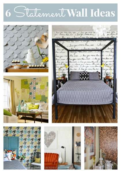 6 statement wall ideas