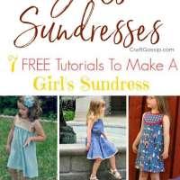 7 FREE Tutorials To Make A Girl's Sundress