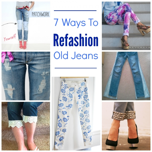 7 Ways To Refashion Old Jeans Craft Gossip