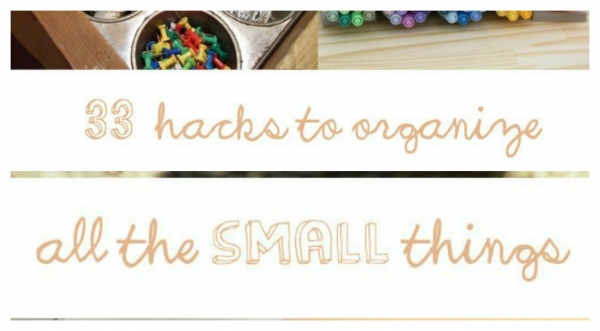 Clever ways to organize small things