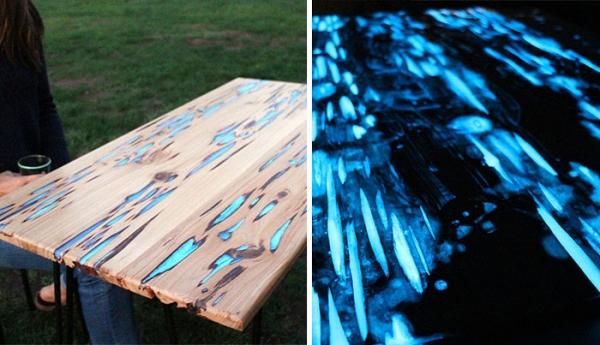 Easy glow in the dark table craft gossip - Glow in the dark table ...