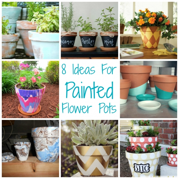 8 ideas for painted flower pots craft gossip - Ideas for making flower pots ...