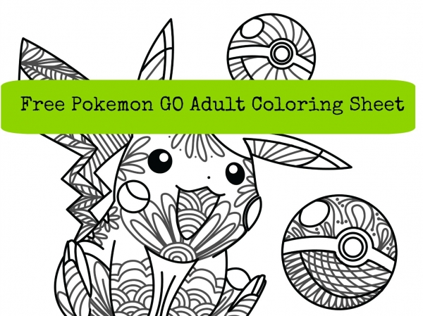 pokemon go adult coloring sheet - Pokemon Go Coloring Pages