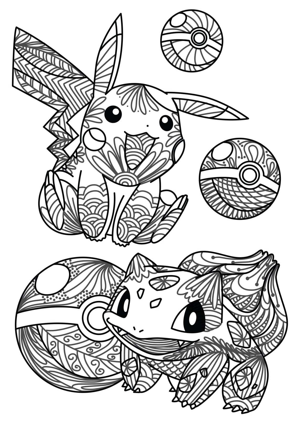 You caught it! Free Pokemon Adult Coloring Sheet – Craft ... | fun printable coloring pages for adults