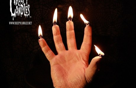 First it burns, then it bleeds: The Creepy Hand Candle