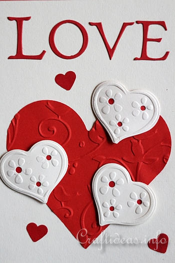 Valentines Day Card Or Anniversary Card To Craft Hearts