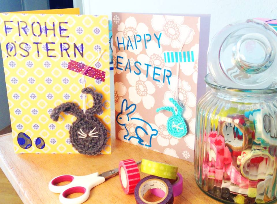 DIY Mixed Media Easter Cards Crocheting And Paper by Craftify My Love