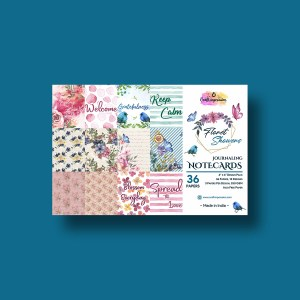 floret showers - 4 x 6 paper pad Floret Showers – 4 x 6 Paper Pad 4x6 Floret Showers craft impression craft impression 4x6 Floret Showers