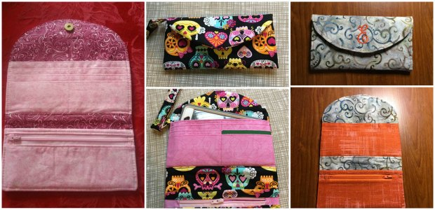 Sewing wallets. The Fold Over Wallet, student examples