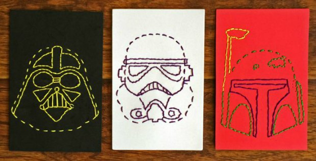 Star Wars Stitch Cards