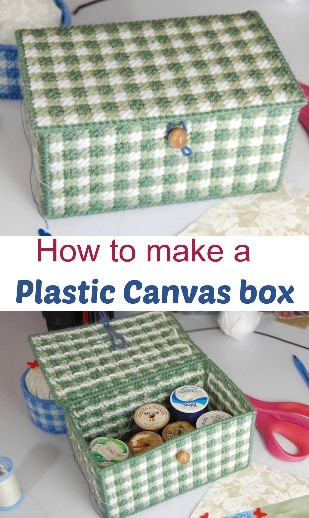 Plastic canvas box tutorial. Ideal beginners plastic canvas pattern or project.