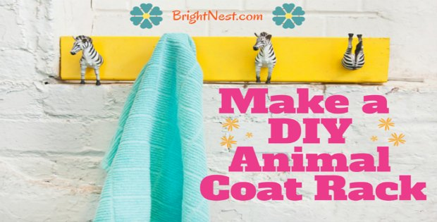 Perfect DIY coat rack for kids rooms, or just for fun.