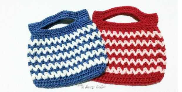 Free, quick and easy crochet bag pattern.