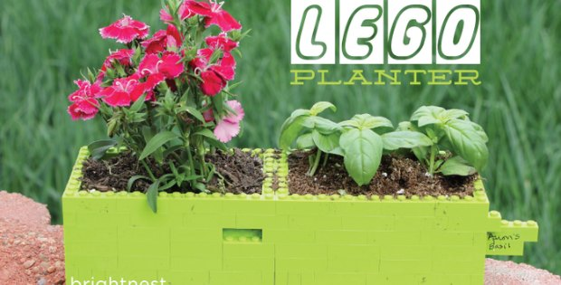 Make fun custom size and shape planters out of lego blocks.