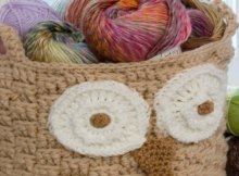 Free owl basket crochet pattern. Very easy to make.