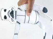 Fun Storm Trooper Star Wars doll to sew. Free sewing pattern.