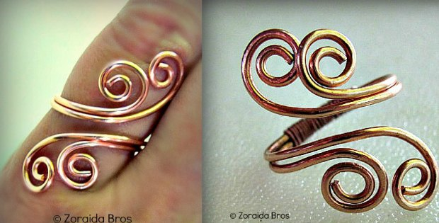 How to make a spiral wire wrapped ring. Custom jewelry. Wire jewelry for beginners. Easy jewelry tutorials.