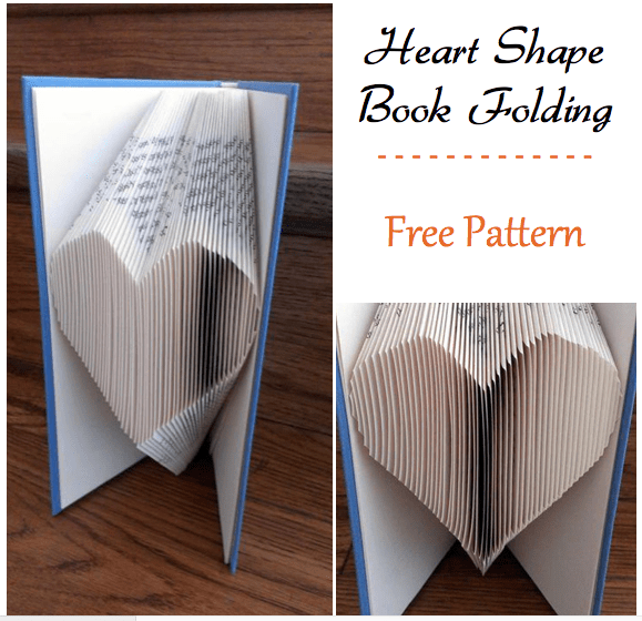 Book Folding Heart Free Pattern