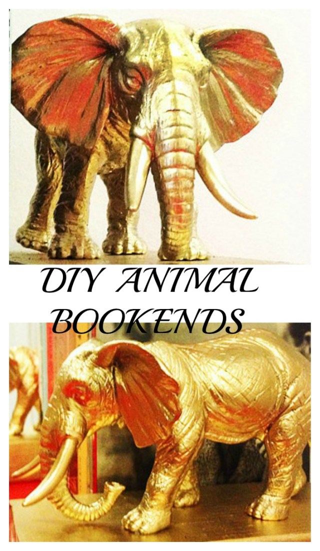 DIY Bookends Personalized With Your Favorite Animal
