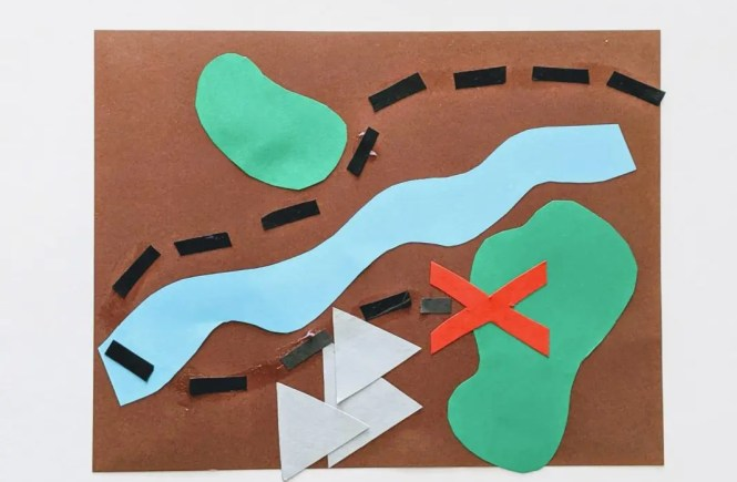 DIY treasure map craft for kids