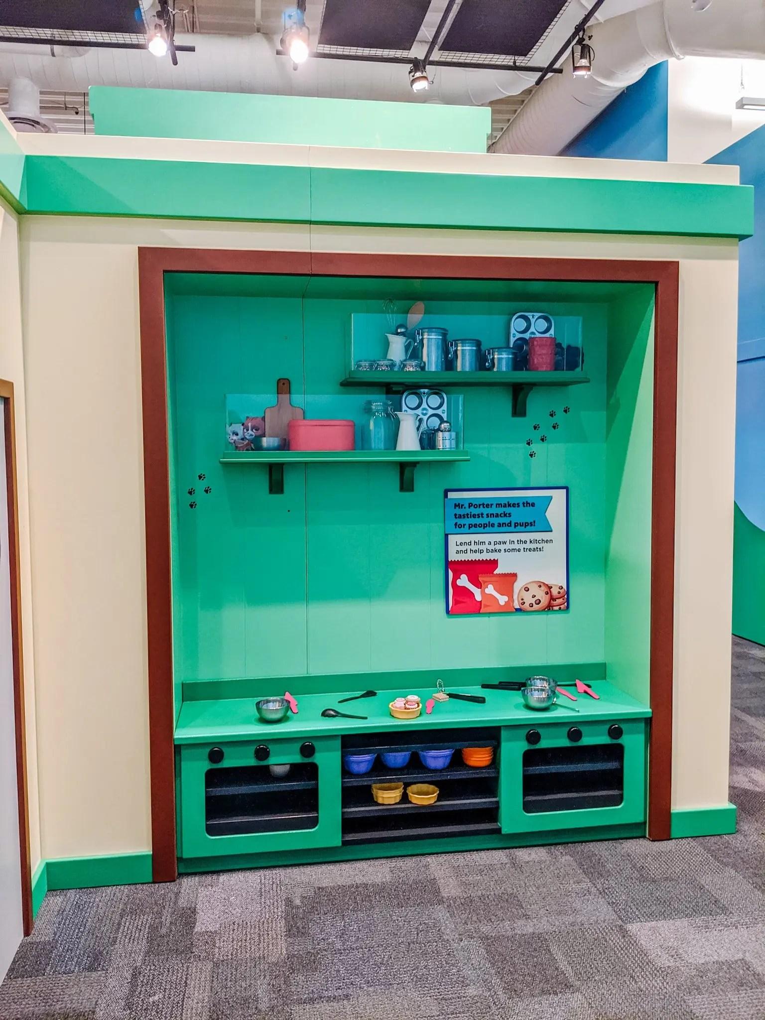 exhibit at the children's museum