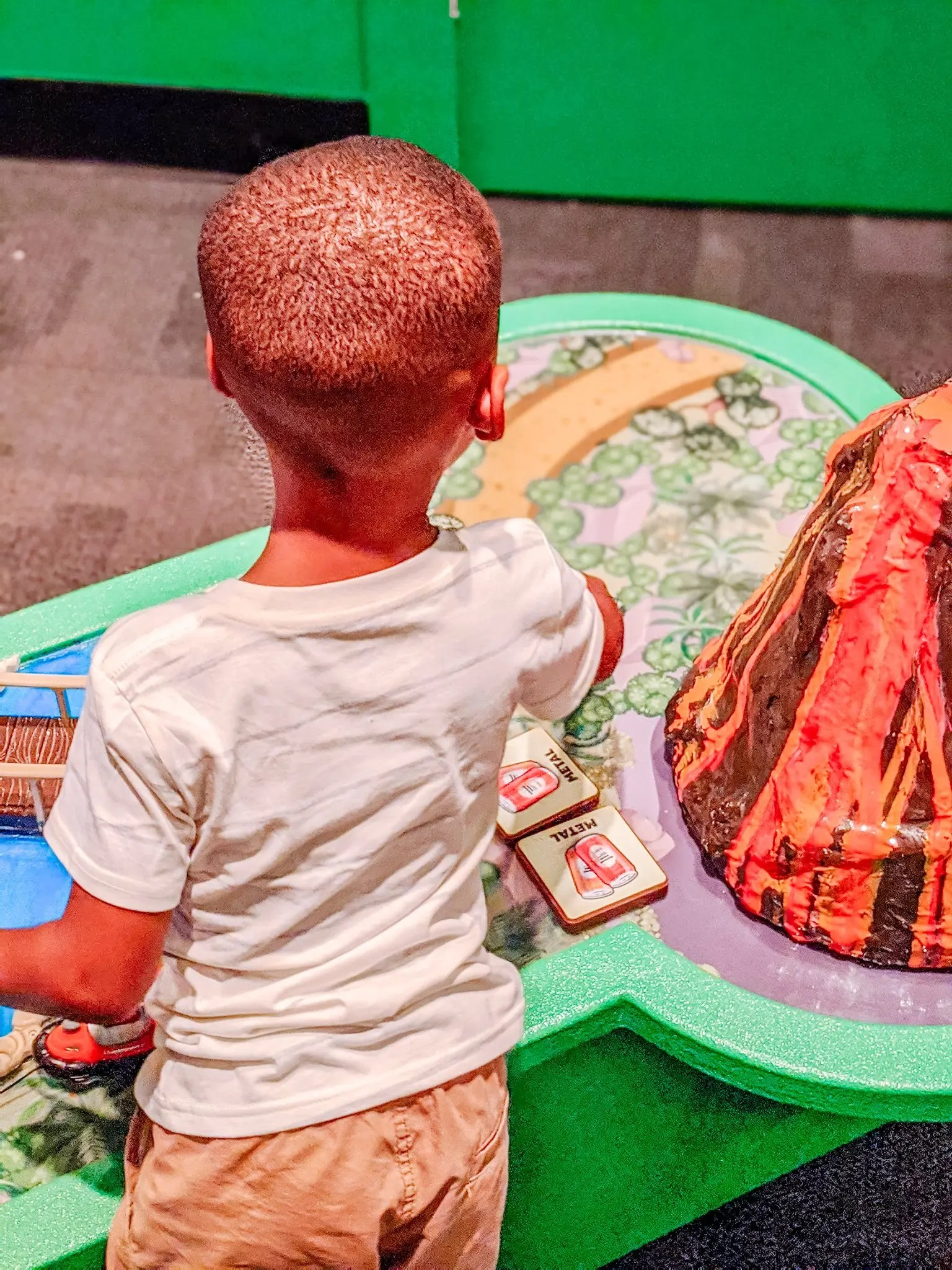 preschooler playing at museum for kids