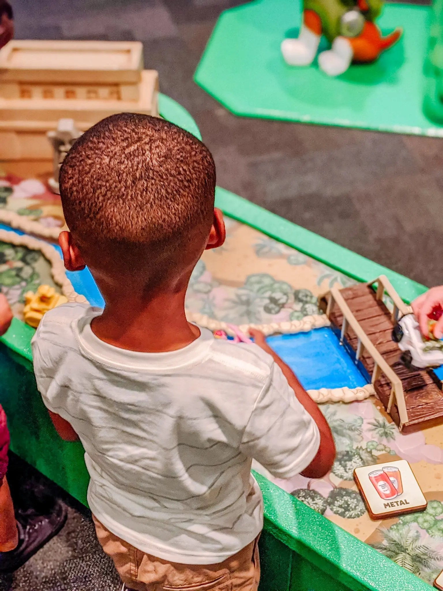 sensory table for kids at the museum